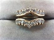 Lady's Gold-Diamond Ring Guard 18 Diamonds .54 Carat T.W. 14K Yellow Gold 5.7g